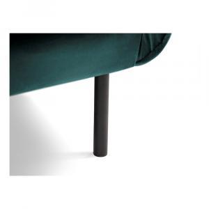 Petrolejovomodrá zamatová pohovka Cosmopolitan Design Vienna, 230 cm