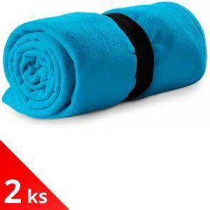 Piccolio 2x Tyrkysová Fleecová deka, 120x150cm