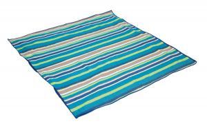 Pikniková deka Bo-Camp 1,5 x 1,4 m, modrá s pruhmi