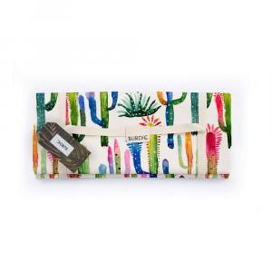 Pikniková deka Surdic Manta Picnic Watercolor Cactus, 170x140cm