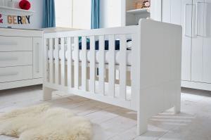 Pinio Detská postieľka / posteľ Calmo - 140 x 70 cm (2 farby) Farba: Biela, Zásuvka: Áno