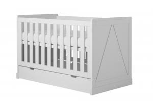 Pinio Detská postieľka / posteľ Marie - 140 x 70 cm Zásuvka: Áno