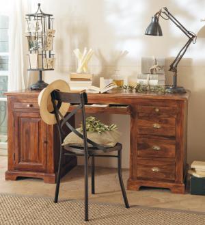 Písací stôl 160x80x80 indický masív palisander - Only stain