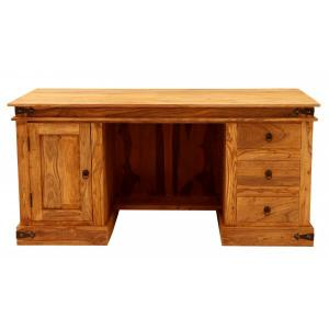 Písací stôl Jali 160x76x80 indický masív palisander - Natural