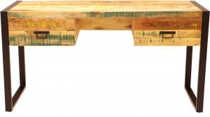 Písací stôl Retro 160x76x70 z recyklovaného mangového dreva - Old spice