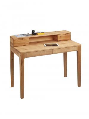 Písací stôl s nadstavbou Theodor, 110 cm, divoký dub