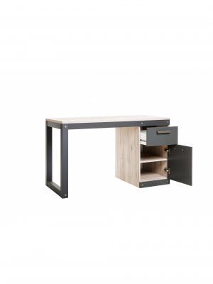 Písací stôl so skinkou a zásuvkou Detroit, 125 cm