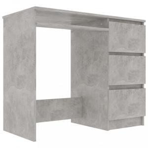 Písací stôl so zásuvkami 90x45 cm Dekorhome Betón