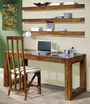 Písací stôl Tara 110x76x60 indický masív palisander - Only stain