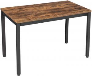 Písací stôl VASAGLE OLA hnedo-čierny