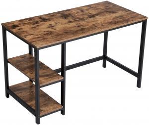 Písací stôl VASAGLE PAUL hnedo-čierny