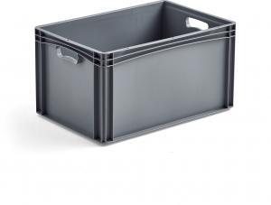 Plastová prepravka AJ EURO, 62 L, 600x400x320 mm