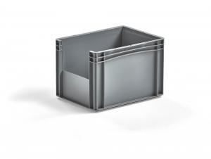 Plastová prepravka Fraser, šedá, 400x300x270 mm