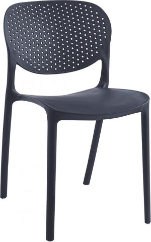 Plastová stolička FEDRA stohovateľná Tempo Kondela Čierna