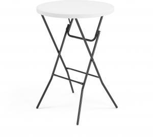 Plastový barový stôl Clara, skladací, Ø 800 mm