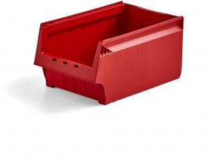 Plastový box AJ 9000, séria 9072, 500x310x250 mm, červený