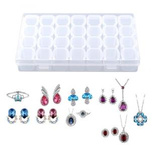 Plastový box na šperky - Číry