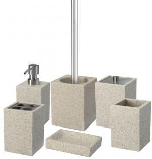 Plastový kúpeľňový set SAND - piesok