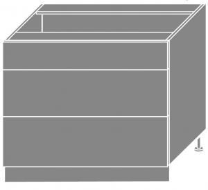 >> PLATINA dolná skrinka D3E/90H, korpus grey/lava