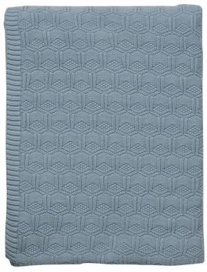 Pléd pletený 130x170 Linen | Modrá