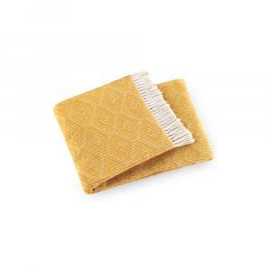 Pléd v zlatej farbe s podielom bavlny Euromant Aisha, 140 × 160 cm