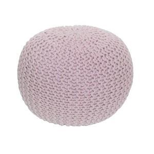 Pletený taburet, púdrová ružová bavlna, GOBI 2