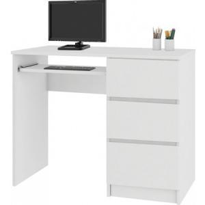 Počítačový stôl A-6 pravý biely