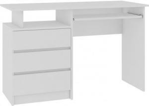 Počítačový stôl CLP 135 cm biely