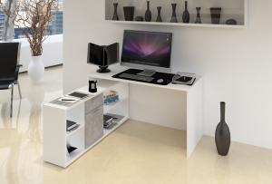 Počítačový stôl NOE NEW Tempo Kondela Biela
