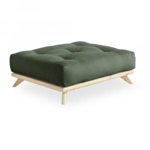 Podnožka Karup Design Senza Natural Clear/Olive Green