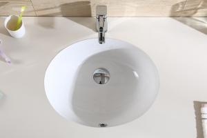 Podpultové keramické umývadlo MILA 46, oválne, biele