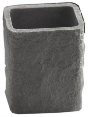 Pohár ARIES , imitácia kameňa, 3 farby - antracit