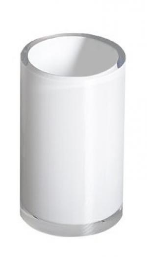 Pohár VEGA , plast, stojaci, strieborný, fialový, biely - biela