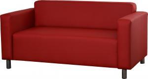 Pohovka dvojsedačka - Po-Sed - Hugo 2R (červená). Akcia -14%. Sme autorizovaný predajca Po-Sed.