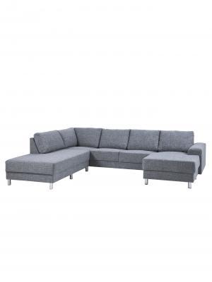 Pohovka rohová ľavá s ležadlom Carlton, 286 cm, sivá