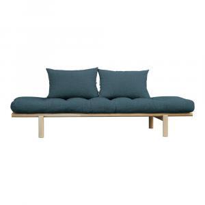 Pohovka s tmavomodrým poťahom Karup Design Pace Natural/Deep Blue
