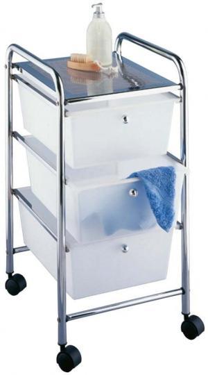 Pojazdný kúpeľňový regál Wenko Messina