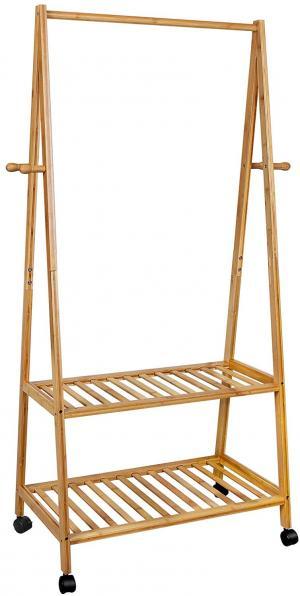 Pojízdný bambusový regál 70x152 cm