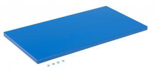 Polica pre dielenskú skriňu Supply, 1105x575 mm, hĺbka 635 mm, modrá