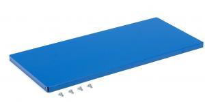 Polica pre dielenskú skriňu Supply, 975x440 mm, hĺbka 500 mm, modrá