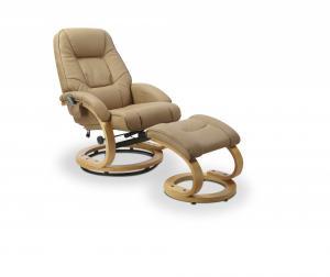 Polohovacie masážne kreslo s stoličkou MATADOR Halmar Béžová
