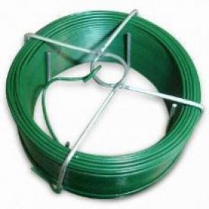 Poplastované drôty zelené Napínací drôt poplast., Priemer drôtu:3,5mm, Dľžka: 26m