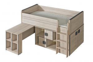 Poschodová posteľ 90 cm Gemo G19 (s roštom)