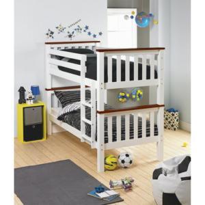 Poschodová posteľ 90 cm Rowan (s roštom)