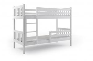 Poschodová posteľ CARINO 200x90cm - Biela - Biela (BEZ zásuvky)
