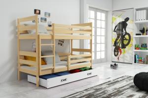 Poschodová posteľ ERIK 2 - 160x80cm - Borovica - Biela