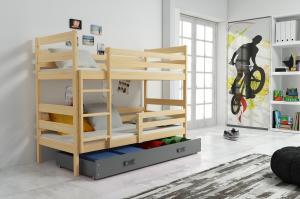 Poschodová posteľ ERIK 2 - 160x80cm - Borovica - Grafitová