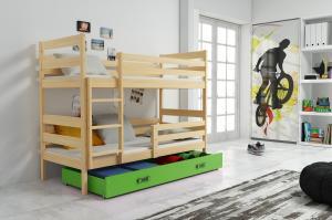 Poschodová posteľ ERIK 2 - 160x80cm - Borovica - Zelená
