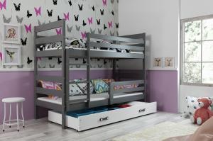 Poschodová posteľ ERIK 2 - 160x80cm - Grafitová - Biela