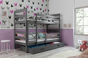 Poschodová posteľ ERIK 2 - 160x80cm - Grafitová - Grafitová